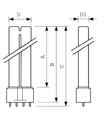 Actinic PL-L 36W-10 uv-a 2G11