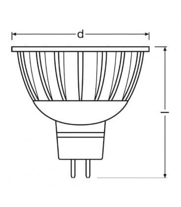 LED Parathom PRO ADV 20 5W WW 930 12V MR16 24D Dimmerabile