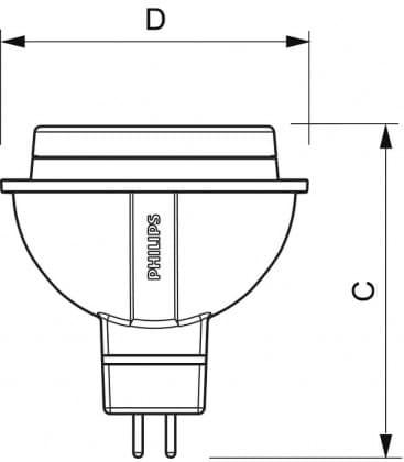 Master LEDspotLV D  7-35W WW 12V MR16 24D Dimmable