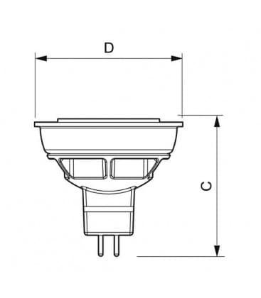 Master LEDspotLV D  6.5-35W CW 12V MR16 36D Dimmbar