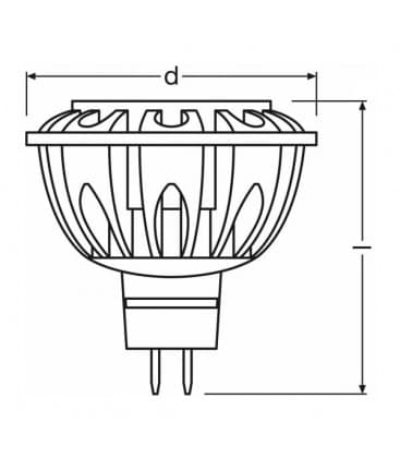 LED Parathom PRO ADV 42 8W CW 840 12V MR16 36D Dimmbar