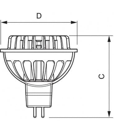 Master LEDspotLV D 7-35W WW 827 12V MR16 36D Dimmbar