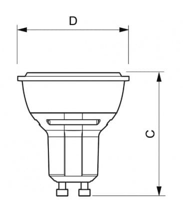 Master LEDspotMV D 5.5-50W WH 230V GU10 25D Dimmbar