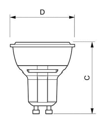 Master LEDspotMV D 5.5-50W WH 230V GU10 25D Dimmerabile