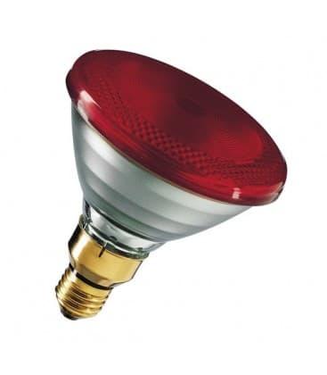 Par38 IR 100W E27 Rojo