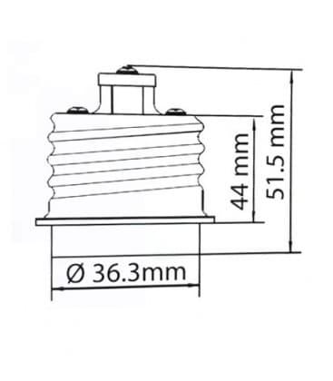 Adaptador de sostenedor lampara de E40 a E27