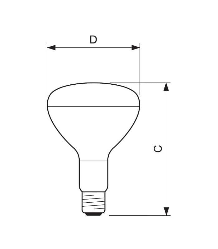 Infrared reflector lamp E27//100W-R95 PHILIPS