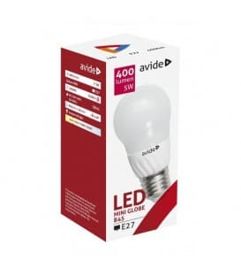 LED Mini Globe B45 5W 220-240V WW E27