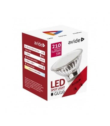 LED Spot Glass 3W WW GU10