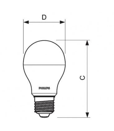 CorePro LEDBulb 9-60W 220-240V WW E27