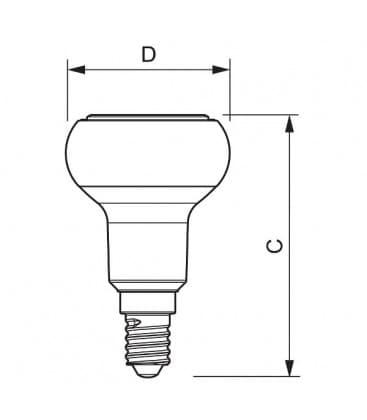LED Reflektor 4-40W WW 240V R50 E14 36D Dimmbar