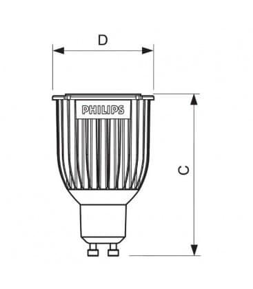 Master LEDspotMV D 8-50W CW 230V GU10 25D Dimmerabile