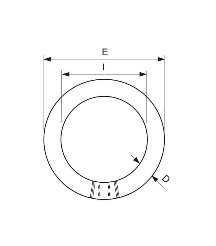 Philips Master Tl E 40w 840 Super 80 G10q T9 Circular Fluorescent