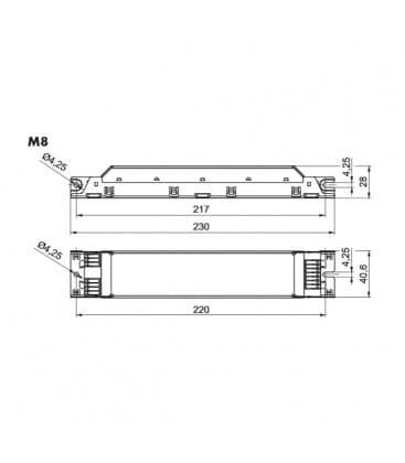 ELXc 236.208 2x18W, 2x36W T8
