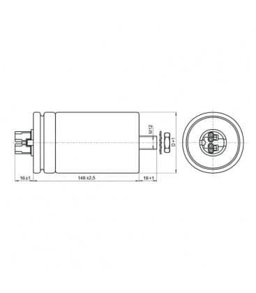 VS Condensateur 100mF 280-300V 41073