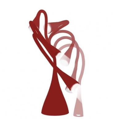 LED DEL-1211R lámpara de mesa rojo