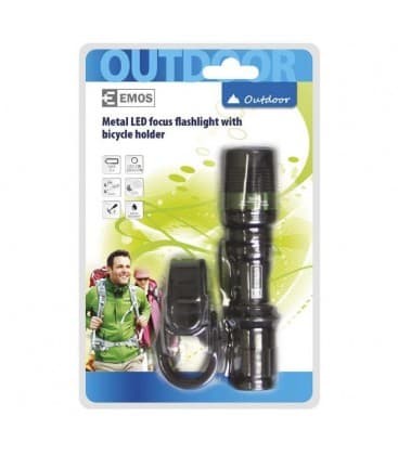 LED torch 3W DRAGON with zoom, holder and 3 modes