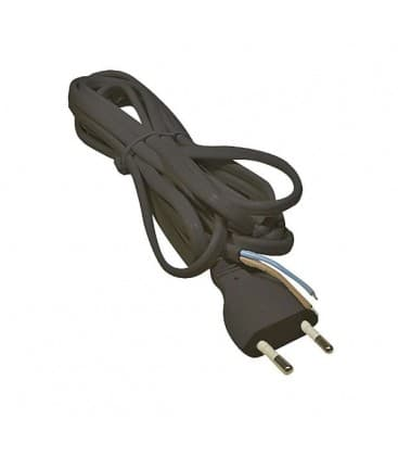 Cable plano 2x0,75mm / 3m negro