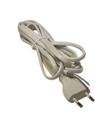 Plat câble 2x0,75mm / 3m blanc