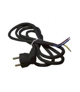 Câble rond 3x1,0mm 2m noir