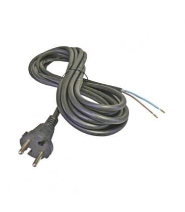 Flexo cordon, le caoutchouc, 2x2,5mm, 5m noir