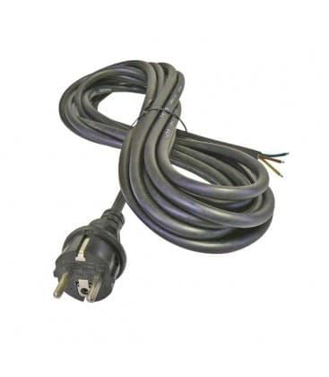 Flexo prikljucna vrvica, guma, 3x1,0mm, 3m crna