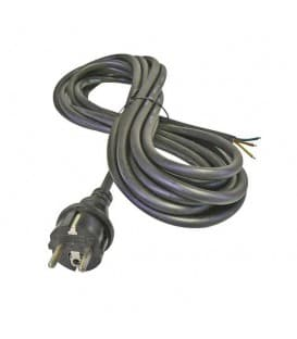 Flexo Cord, gomma, 3x1,0mm, 5m nero