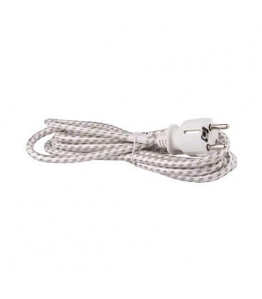 Flexo Cord, 3x0,75mm2, braided 2,4m