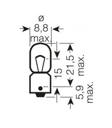 3860 12V 5W BA9s Original Line