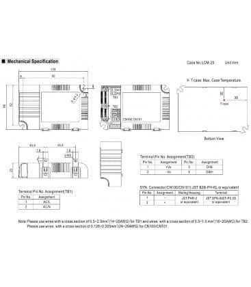 LCM-25, 6-54V / 25W / IP20
