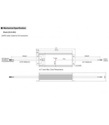 HLG-40H-24, 24V / 40W / IP67