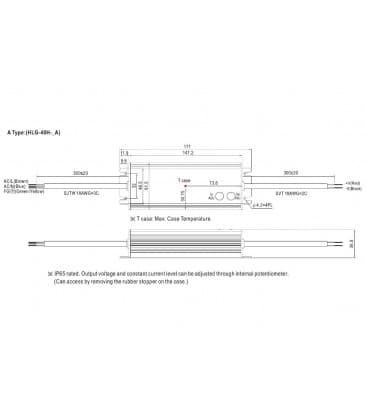 HLG-40H-12A, 12V / 40W / IP65
