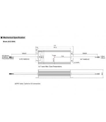 HLG-60H-24, 24V / 60W / IP67