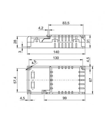 ELXc 142.872 with cord grip 1x18-42W, 2x18-26W