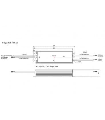 HLG-150H-24B, 24V / 150W / IP67