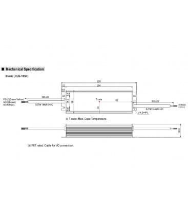 HLG-185H-24, 24V / 187W / IP67