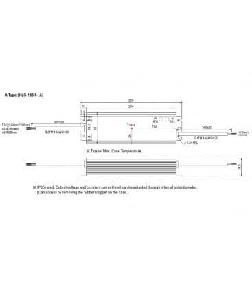 HLG-185H-24A, 24V / 187W / IP65