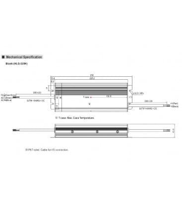 HLG-320H-12, 12V / 264W / IP67