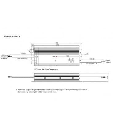 HLG-320H-12A, 12V / 264W / IP65