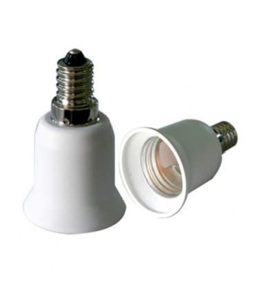 Lamp holder adapter from E14 plug to E27 socket