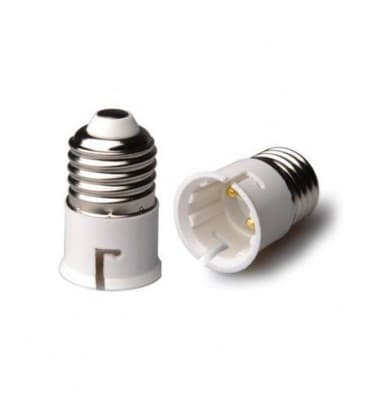 Adaptador de sostenedor lampara de E27 a B22