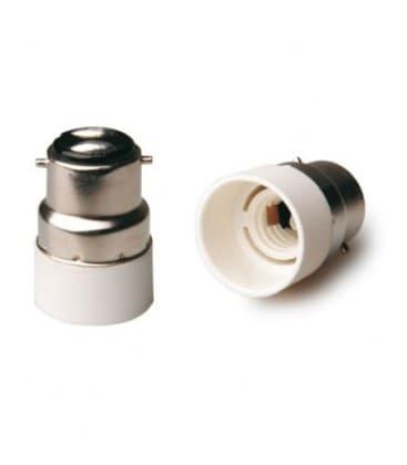 Adapteur de support de lampe de B22 a E14 LA-ZKC-A2214 8033638776384
