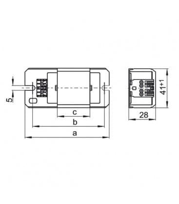 Ballast L4/6/8.304 230V 50HZ T5
