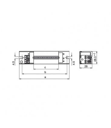 Vorschaltgerat LN18.127 230V 50Hz T8, T12, TC-F/TC-L, T-U, TC-D/TC-T, TC-DD