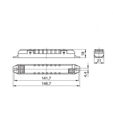 ELXs 126.907 1x24W, 1x26W TC-F-L, TC-DEL/-TEL