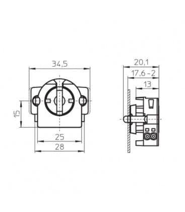 Okov G13 Rotoclic vgradni okov 59106