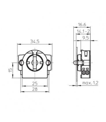 Okov G13 Rotoclic vgradni okov 59506