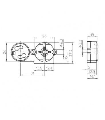 Portalampara G13 con el accesorio de arranque 47200