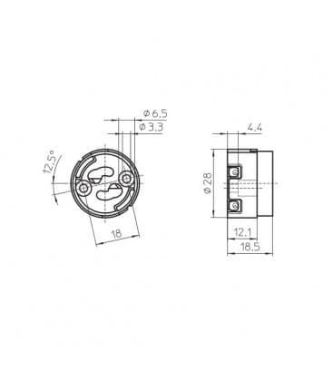 Lampholder, Base GX10 31400