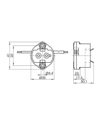 Lampenhalter Fassung GX12-1 41900
